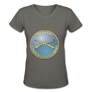 Infantry Branch Plaque - Women's V-Neck T-Shirt
