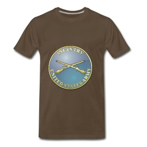Infantry Branch Plaque - Men's Premium T-Shirt