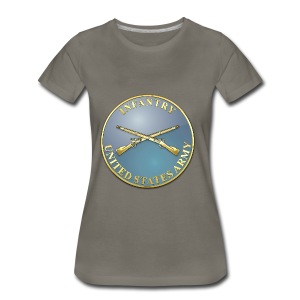 Infantry Branch Plaque - Women's Premium T-Shirt