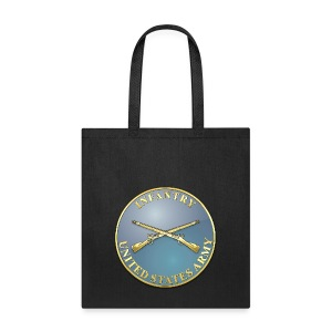 Infantry Branch Plaque - Tote Bag