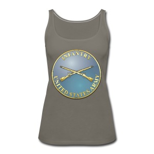 Infantry Branch Plaque - Women's Premium Tank Top