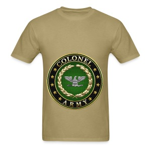Army Colonel (COL) Rank Insignia 3D  - Men's T-Shirt
