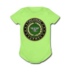 Army Colonel (COL) Rank Insignia 3D  - Short Sleeve Baby Bodysuit