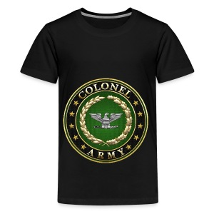 Army Colonel (COL) Rank Insignia 3D  - Kids' Premium T-Shirt