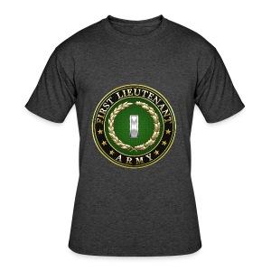 First Lieutenant (1LT) Rank Insignia 3D  - Men's 50/50 T-Shirt