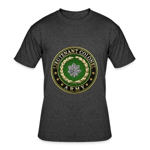 Lieutenant Colonel (LTC) Rank Insignia 3D  - Men's 50/50 T-Shirt