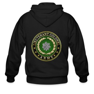 Lieutenant Colonel (LTC) Rank Insignia 3D  - Men's Zip Hoodie