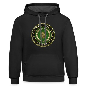 Major (MAJ) Rank Insignia 3D  - Contrast Hoodie