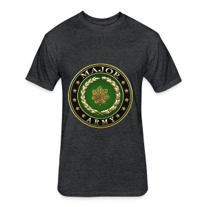 Major (MAJ) Rank Insignia 3D  - Fitted Cotton/Poly T-Shirt by Next Level
