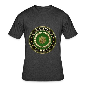Major (MAJ) Rank Insignia 3D  - Men's 50/50 T-Shirt