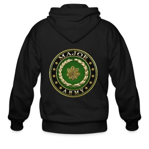 Major (MAJ) Rank Insignia 3D  - Men's Zip Hoodie