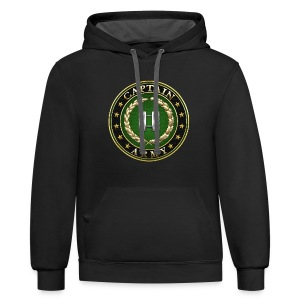 Captain (CPT) Rank Insignia 3D  - Contrast Hoodie