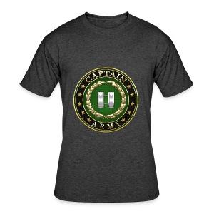 Captain (CPT) Rank Insignia 3D  - Men's 50/50 T-Shirt