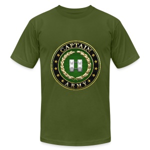 Captain (CPT) Rank Insignia 3D  - Men's T-Shirt by American Apparel