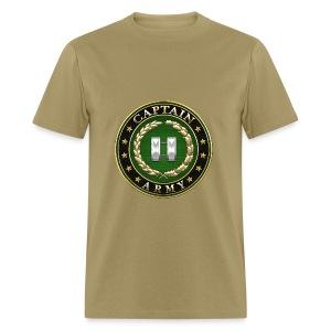 Captain (CPT) Rank Insignia 3D  - Men's T-Shirt