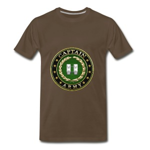 Captain (CPT) Rank Insignia 3D  - Men's Premium T-Shirt