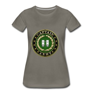 Captain (CPT) Rank Insignia 3D  - Women's Premium T-Shirt