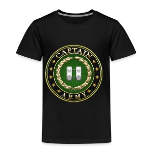 Captain (CPT) Rank Insignia 3D  - Toddler Premium T-Shirt