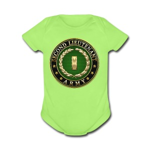Second Lieutenant (2LT) Rank Insignia 3D  - Short Sleeve Baby Bodysuit