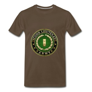 Second Lieutenant (2LT) Rank Insignia 3D  - Men's Premium T-Shirt
