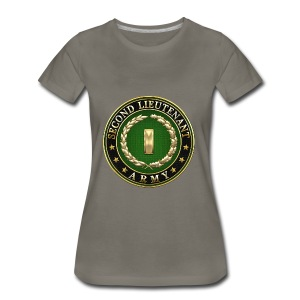Second Lieutenant (2LT) Rank Insignia 3D  - Women's Premium T-Shirt