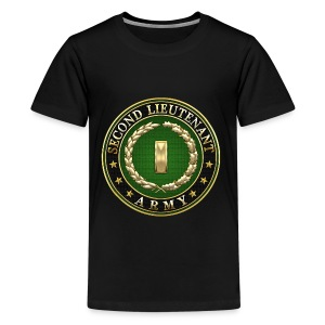 Second Lieutenant (2LT) Rank Insignia 3D  - Kids' Premium T-Shirt