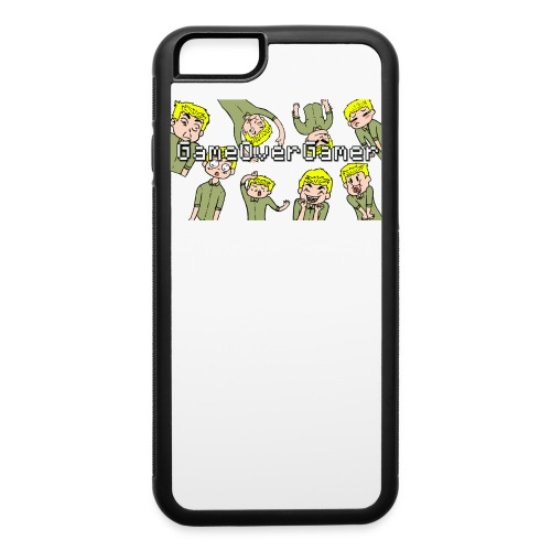 Many Faces of GameOverGamer Tee - iPhone 6/6s Rubber Case