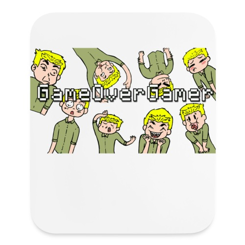 Many Faces of GameOverGamer Tee - Mouse pad Vertical