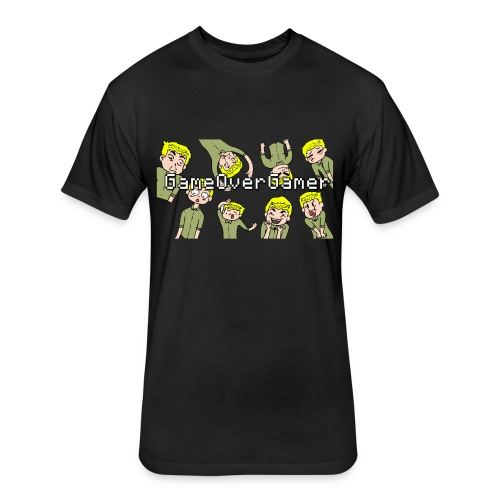Many Faces of GameOverGamer Tee - Fitted Cotton/Poly T-Shirt by Next Level