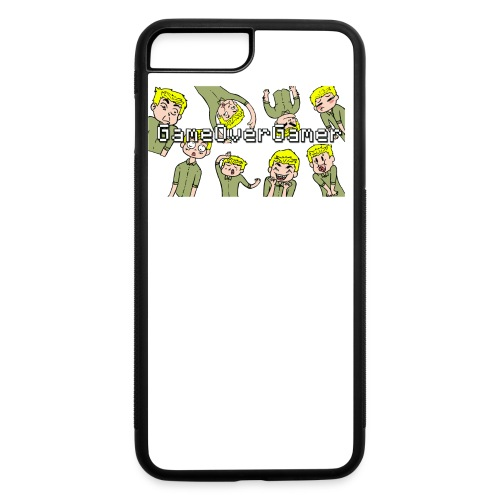 Many Faces of GameOverGamer Tee - iPhone 7 Plus/8 Plus Rubber Case