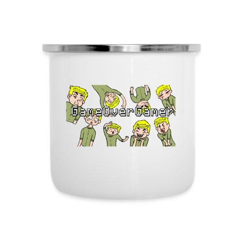 Many Faces of GameOverGamer Tee - Camper Mug