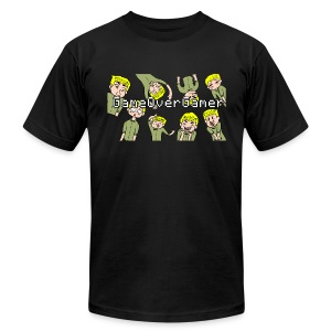 Many Faces of GameOverGamer Tee - Men's T-Shirt by American Apparel