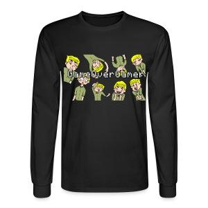 Many Faces of GameOverGamer Tee - Men's Long Sleeve T-Shirt