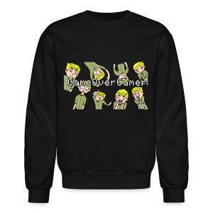 Many Faces of GameOverGamer Tee - Crewneck Sweatshirt