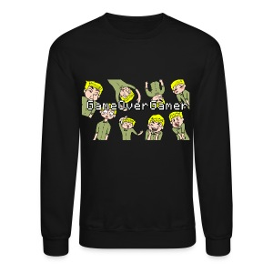 Many Faces of GameOverGamer Tee - Crewneck Sweatshirt