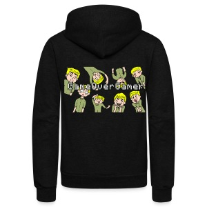 Many Faces of GameOverGamer Tee - Unisex Fleece Zip Hoodie by American Apparel