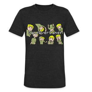 Many Faces of GameOverGamer Tee - Unisex Tri-Blend T-Shirt by American Apparel