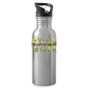 Many Faces of GameOverGamer Tee - Water Bottle