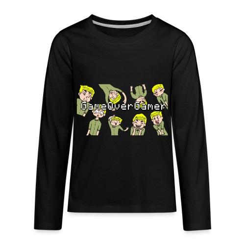 Many Faces of GameOverGamer Tee - Kids' Premium Long Sleeve T-Shirt