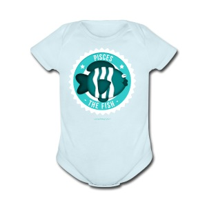 Pisces Kids T - Short Sleeve Baby Bodysuit