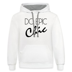 Long Sleeve Do Epic Chic T-shirt - Contrast Hoodie