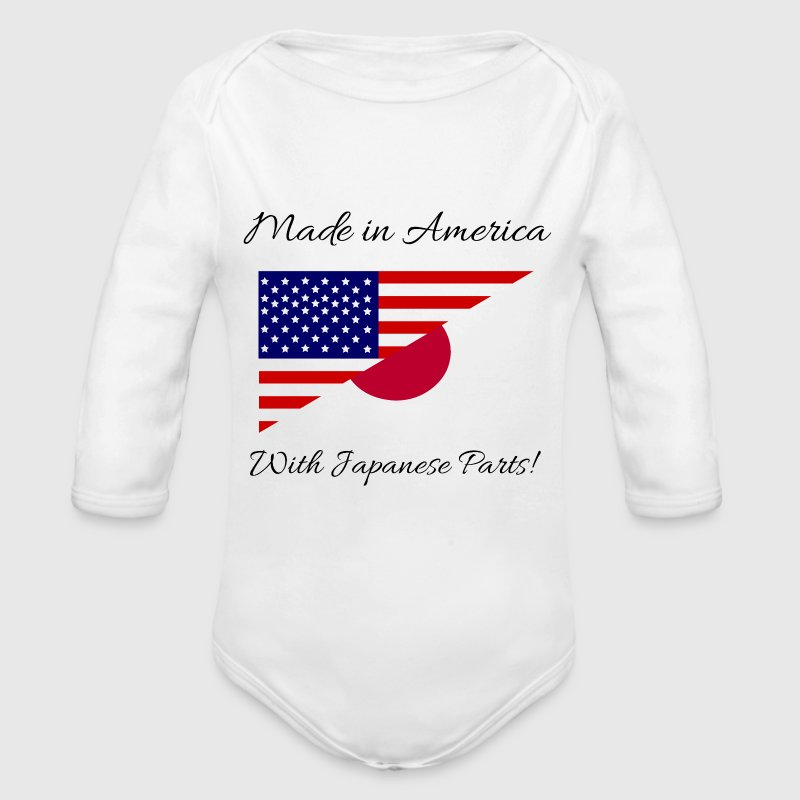 Made in America with Japanese Parts! - Long Sleeve Baby Bodysuit