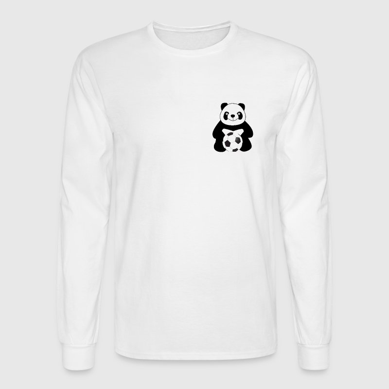 Panda with a soccer ball Long Sleeve Shirts - Men's Long Sleeve T-Shirt