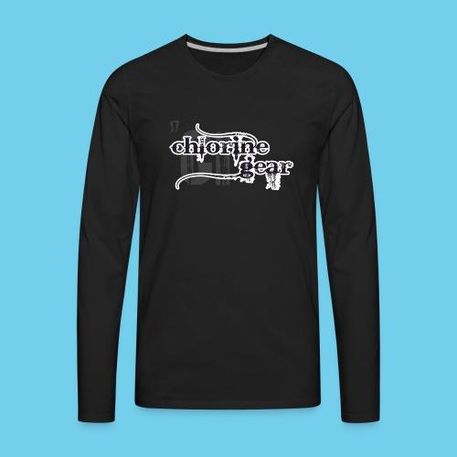 Sink or Swim Vintage- Front Logo, Rear Design- Youth Tee - Men's Premium Long Sleeve T-Shirt
