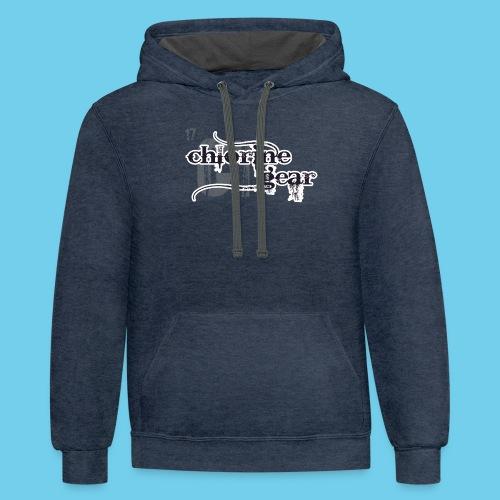 Swim Dad Superpower-Sweatshirt - Contrast Hoodie