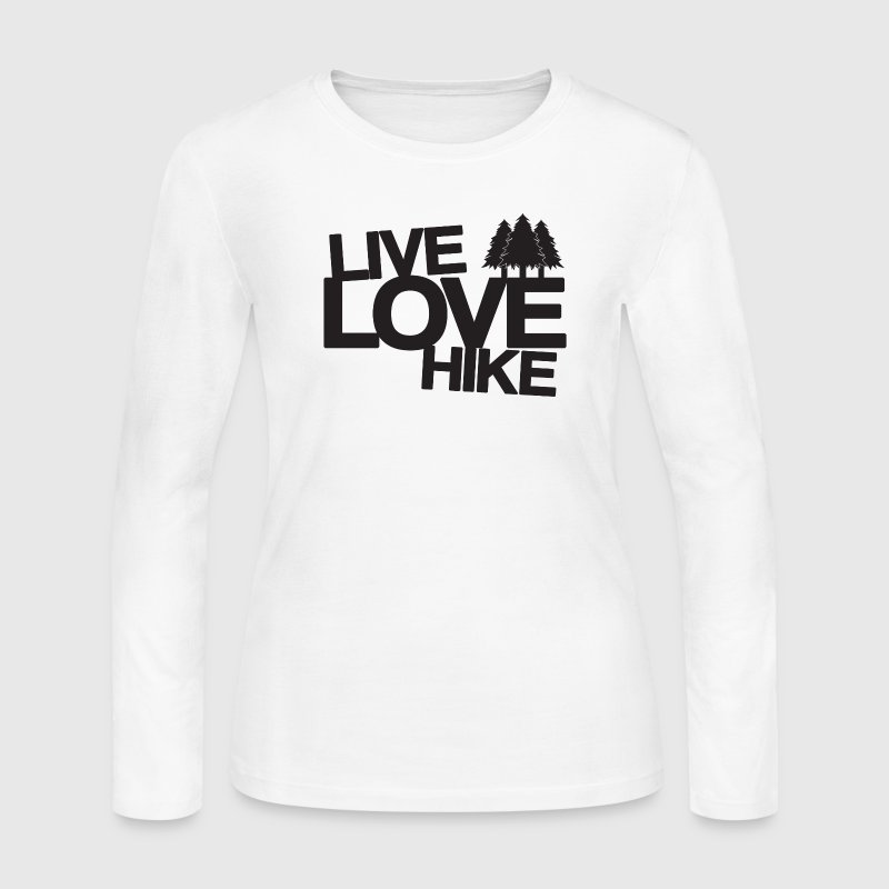 Live Love Hike | Hiking Long Sleeve Shirts - Women's Long Sleeve Jersey T-Shirt
