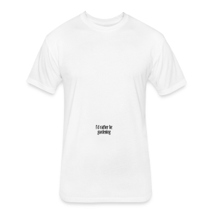 Gardener's Mug I'd rather be gardening (Right) - Fitted Cotton/Poly T-Shirt by Next Level