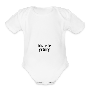 Gardener's Mug I'd rather be gardening (Right) - Short Sleeve Baby Bodysuit