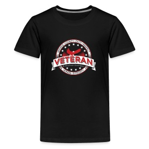 veteran soldier army navy usa pride - Kids' Premium T-Shirt