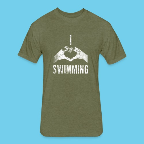 Dad's Swim Taxi, VINTAGE Youth Premium Tee - Fitted Cotton/Poly T-Shirt by Next Level